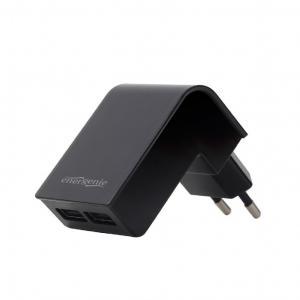 Ładowarka 2 portowa USB 2.1A/czarna