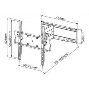 Uchwyt ścienny LCD/LED 23-55cali regulowany, 50kg, biały
