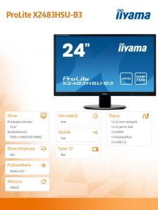 Monitor 23.8 ProLite X2483HSU-B3 AMVA,HDMI,USB,DP,2x2W