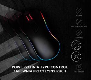 Podkładka pod mysz gaming SAVIO Precision Control S 250x250x2mm, obszyta