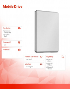 Dysk twardy Mobile Drive 4TB USB-C STHG4000400
