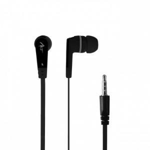Słuchawki douszne z mikrofonem S2B czarne smartfon/Mp3/tablet