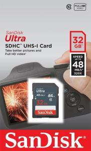 Ultra SDHC 32GB 48MB/s UHS-I Class 10
