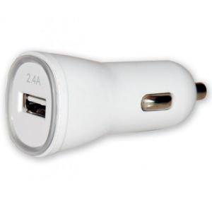 Ładowarka samochodowa USB 5V 2.4A biała
