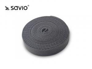 SAVORG-OC-04/G Organizer na kable, Taśma, Rzep, 3m x 20mm - szary