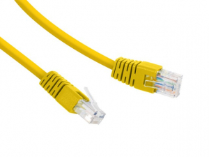 Patch cord Kat.6 UTP 2m żółty