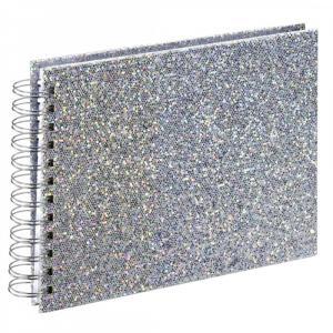 Album spiralny Glam 24x17cm, 50 białych stron, srebrny