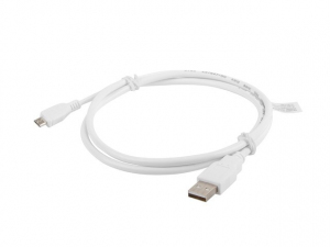 Kabel USB 2.0 micro AM-MBM5P 1M biały