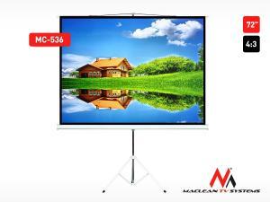 Ekran projekcyjny MC-536 na stojaku 72