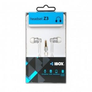 Słuchawki Z3 douszne z mikrofonem, Biały