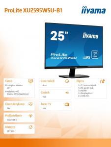 Monitor 25 cali XU2595WSU-B1 IPS, 16:10, DP, USB, HDMI