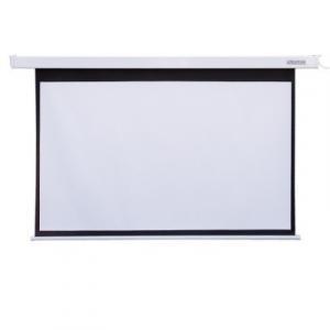 Ekran projekcyjny elektryczny ścieny/sufitowy z przełącznikiem 221X124 16:9