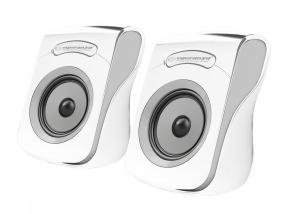 Głośniki 2.0 USB FLAMENCO biało-szare