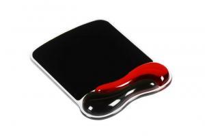 Podkładka pod mysz Duo Gel czerwono-szara