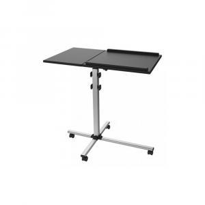 Stolik do projektora/notebooka, mobilny czarny