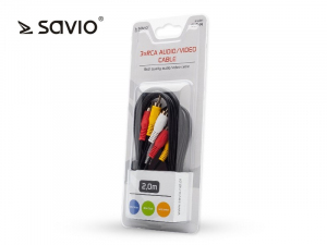 Kabel audio CLS-14 Savio RCSx3, 2m