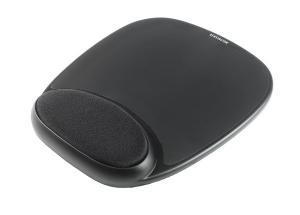 Podkładka ergonomiczna pod mysz, żelowa, czarna