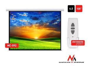 Ekran projekcyjny elektryczny MC-592 100