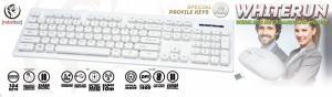 Zestaw bezprzewodowy Whiterun klawiatura+mysz, kolor biały, technologia bezprzewodowa 2,4Ghz