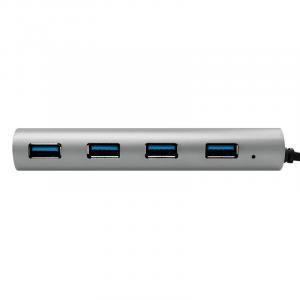 Hub 4xUSB 3.1, USB-C, aluminiowa obudowa