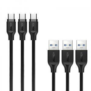 Zestaw 3 szt. kabli Quick Charge USB C-USB 3.0 | 3 x 1m CB-CMD3