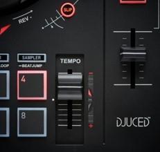 Konsola DJ Inpuls 300, kontroler DJ ze złączem USB, 2 ścieżki, 16 padów i karta dźwiękowa, oprogramowanie i samouczki w zestawie