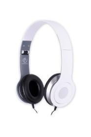 Stereofoniczne słuchawki z mikrofonem CITY WHITE
