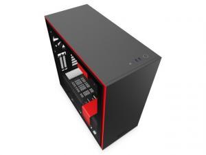 Obudowa H710I z oknem, czarno-czerwona
