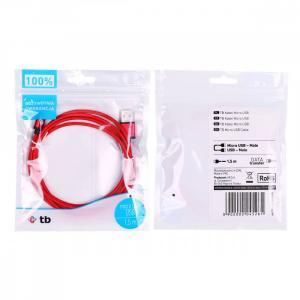Kabel USB-Micro USB 1.5 m czerwony sznurek