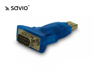 Adapter USB 2.0 do RS 9-pin + kabel USB SAVIO CL-22