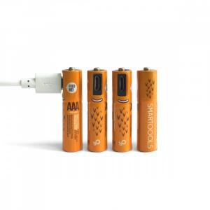 Akumulator Micro USB, 4x AAA, 450mAh, Ni-MH