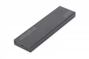 Obudowa zewnętrzna USB Typ C na dysk SSD M2 (NGFF) SATA III, 80/60/42/30mm, aluminiowa