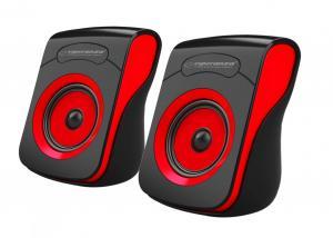 Głośniki 2.0 USB FLAMENCO czarno-czerwone