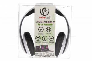 Stereo słuchawki z mikrofonem 4pin mini jack AUDIOFEEL2 WHITE