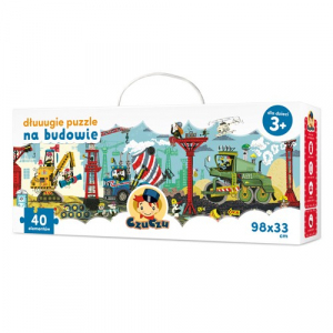 Dłuuugie puzzle na budowie 40 elementów