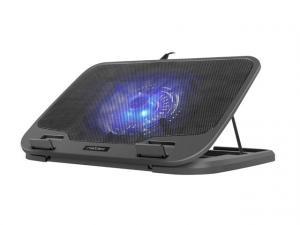 Podstawka chłodząca pod notebook Iora 15.6-17.3 cali z cichym wentylatorem, podświetlenie, 2x USB