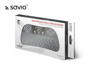 Klawiatura bezprzewodowa SAVIO KW-03 Android TV Box, Smart TV, PS3, XBOX 360, PC