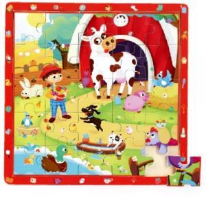 Gra i puzzle drewniane TOP BRIGHT - Na wsi, 25 elementów
