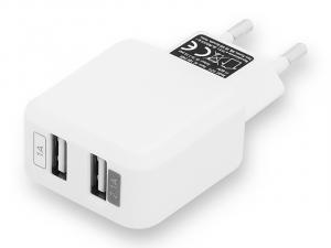 Ładowarka sieciowa USB x 2 1A/2,1A H21C
