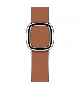 Pasek w kolorze naturalnego brązu z klamrą nowoczesną do koperty 40 mm - S