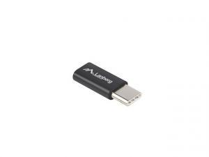 Adapter USB CM - micro USB BF 2.0 czarny