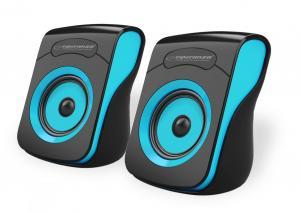 Głośniki FLAMENCO 2.0 USB czarno-niebieskie