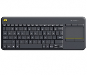 K400 Plus Wireless Touch Keyboard Czarna