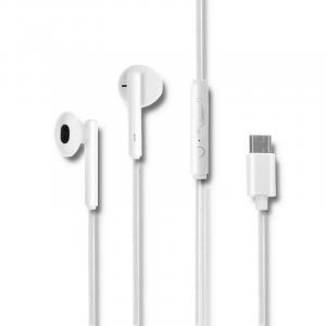 Słuchawki dokanałowe | mikrofon | USB-C | białe