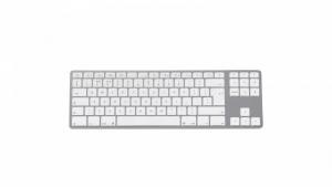 Klawiatura aluminiowa Mac Tenkeyless Bluetooth Srebrna