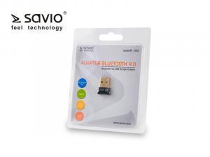 Adapter komputerowy USB Nano SAVIO BT-040 Bluetooth 4.0, 3Mb/s, zasięg 50m