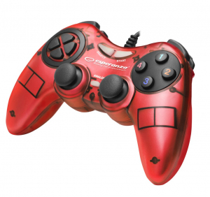GAMEPAD PC USB FIGHTER CZERWONY