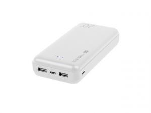 Power Bank Extreme Media Trevi 20000mAh 2x USB + 1x USB-C biały