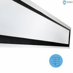 Elektryczny Ścienny/Sufitowy Ekran Projekcyjny z Pilotem 203x152 (4:3) Matt White