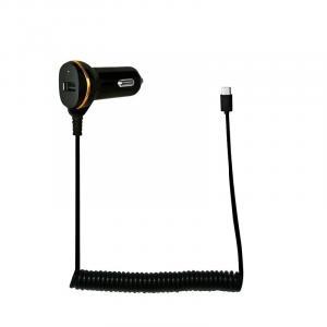 Ładowarka samochodwa USB z kablem USB-C 10.5W